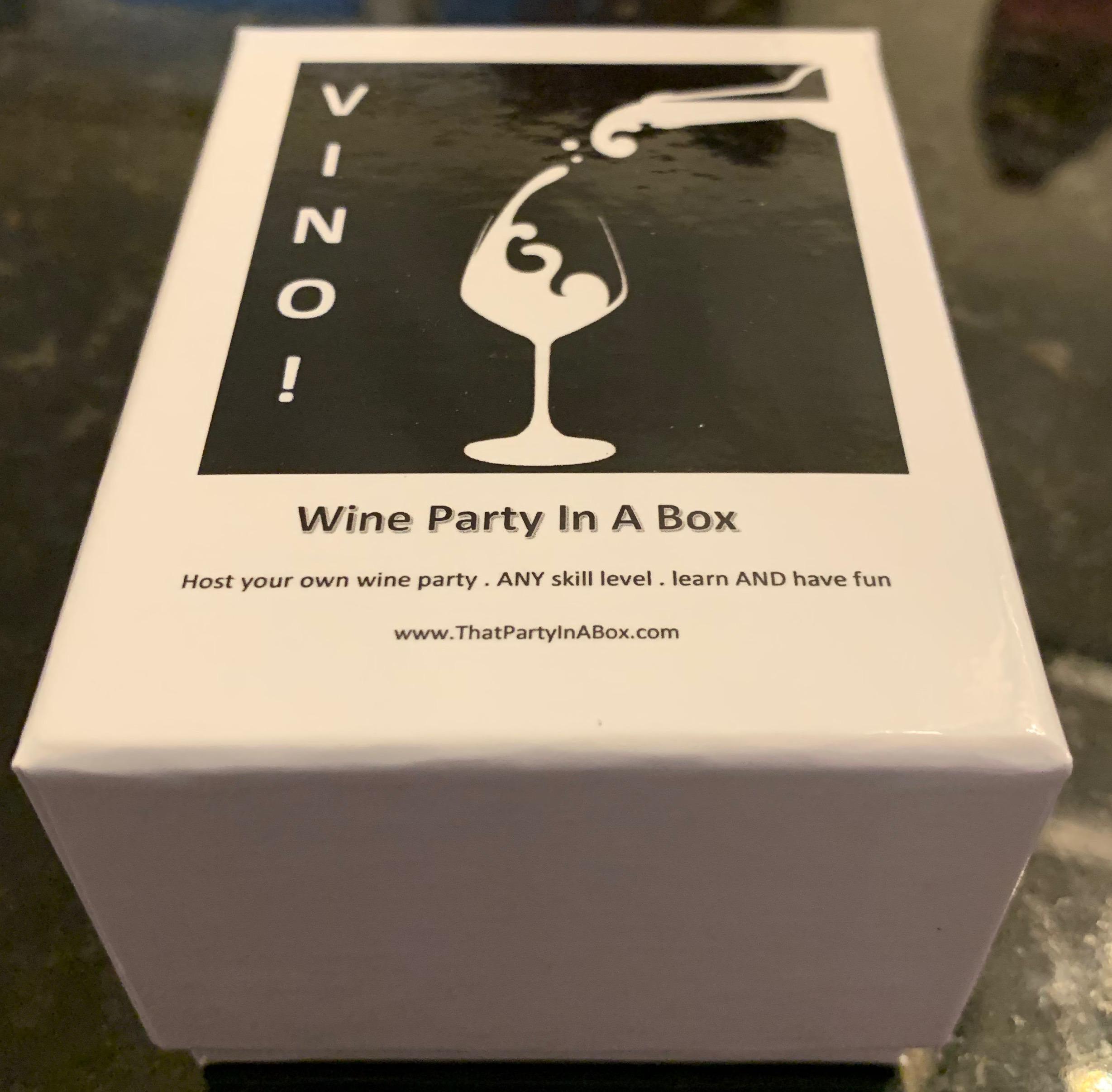 VINO! wine tasting party in a box